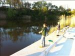 Fishing at the new park