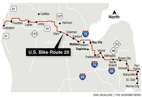 US Bike Route 20 - St. Clair County Blueways et Inventory Saint Clair Ss Michigan Map Of Cities And Towns on