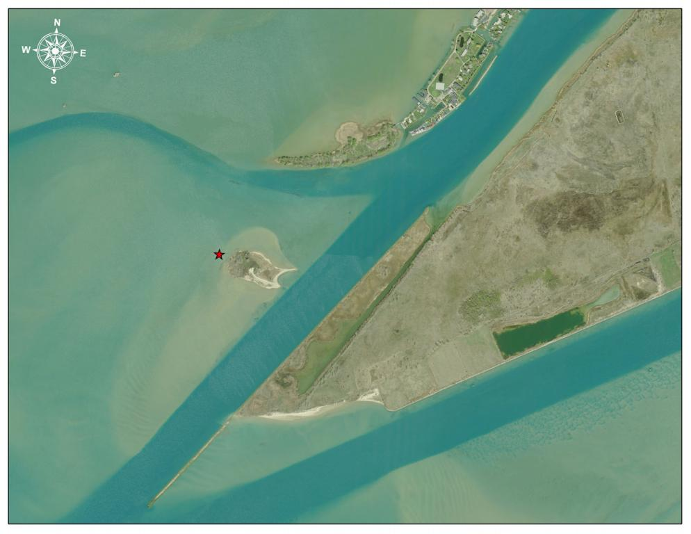 Gull Island on the 2010 Aerial Imagery, next to the International border